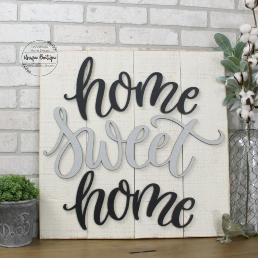 Home Sweet Home Shiplap Sign