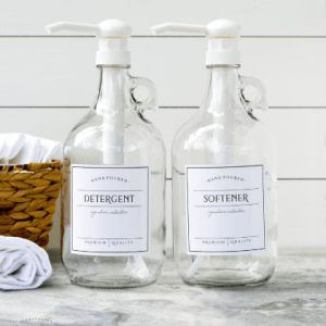 Farmhouse Style Laundry Soap Bottles