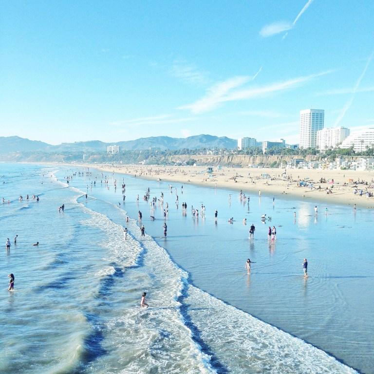 santa monica beach WQB7DKT 768x768