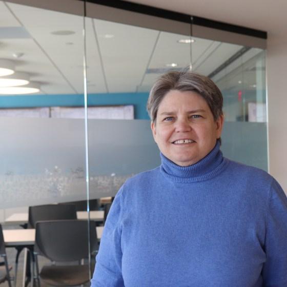 Anne Rousseau is the co-founder of JP Progressives. Photo by Eileen O'Grady.