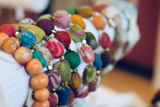 Colorful accessories for sale at the South End store. Photo by Alexa Gagosz.