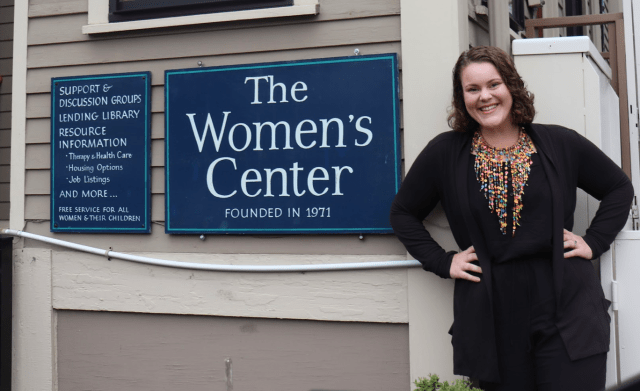 Jessye Kass is the director of the Cambridge Women's Center. Photo by Eileen O'Grady.