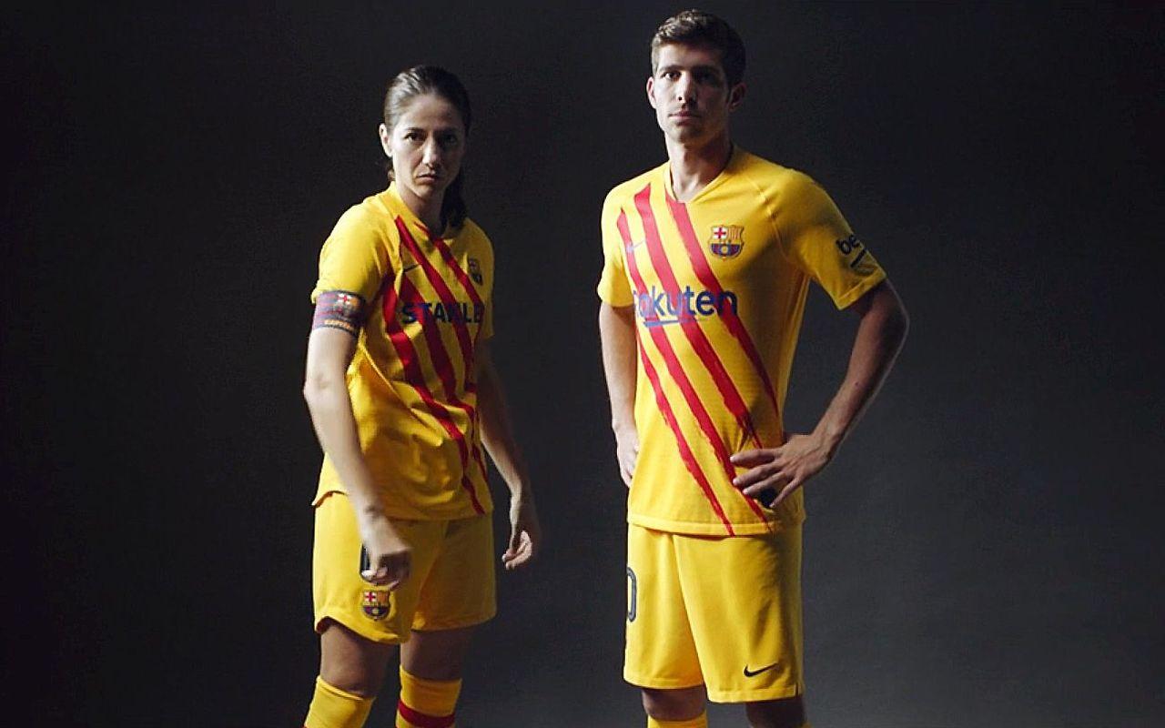 Barcelona will wear their new Senyera Kit against Atletico Madrid on Sunday