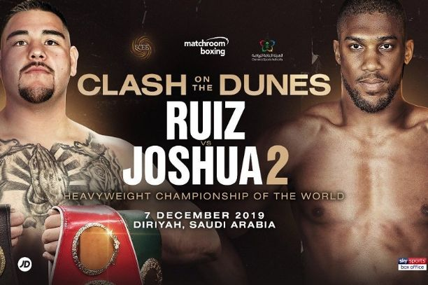 Andy Ruiz Jr. vs. Anthony Joshua 2nd: How and Where to Watch, Kick-Off Time, TV Channel, and Live Stream