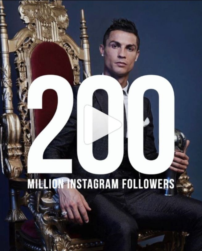 Cristiano Ronaldo Breaks Guinness Book Of Records As He Becomes The First Person To Reach 200 Million Instagram Followers