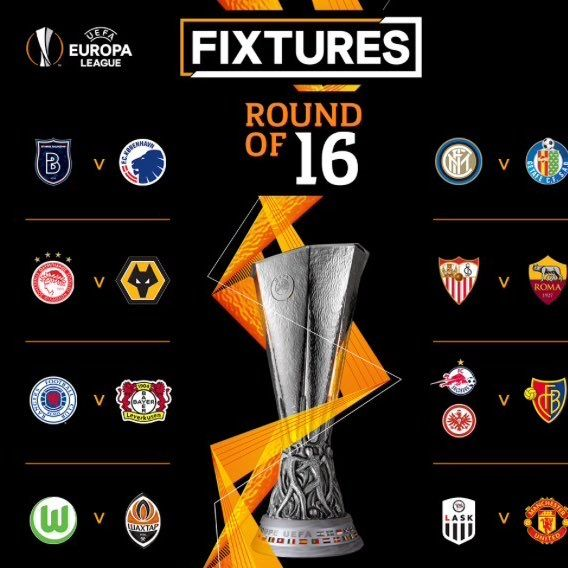 #UELdraw: Europa League round of 16 final draw and fixtures