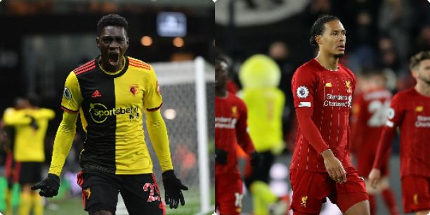 Ismaïla Sarr scores brace as Watford Storm Liverpool 3-0 to end their unbeaten run