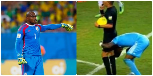 Vincent Enyeama Finally Reveals Why He Lifts Referee, Djamel Haimoudi In AFCON Final Against Burkina Faso