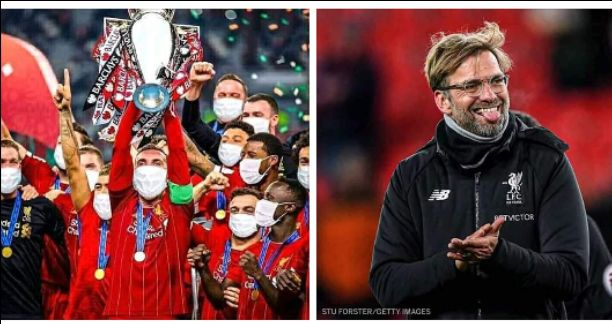 Liverpool Finally Crowned Premier League Champions For 2019/2020 Season