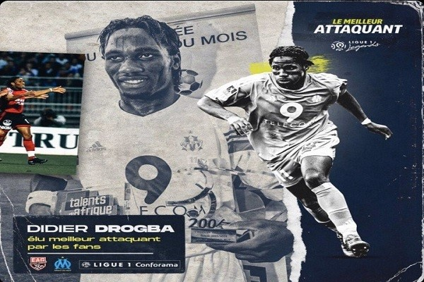 Drogba beats Ibrahimovic to crowned Ligue 1's best striker of the past 20 years