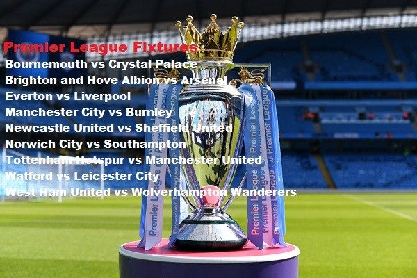 English Premier League Fixtures From Week 30 to Week 38, 2020 Season