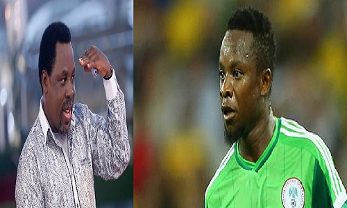 Onazi reveals how TB Joshua help his football career