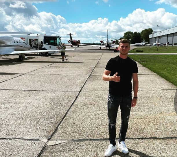 Timo Werner arrives London ahead of Chelsea vs Wolves