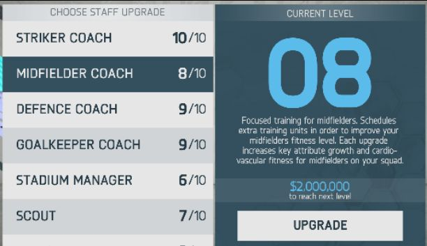 How to Upgrade Staff in FIFA 20