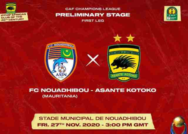 Nouadhibou vs Asante Kotoko Live Stream: Team News, Match Details and TV Channel