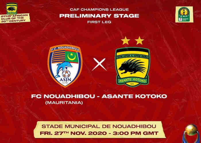 Nouadhibou vs Asante Kotoko Live Stream: Team News, Match Details and TV Channel