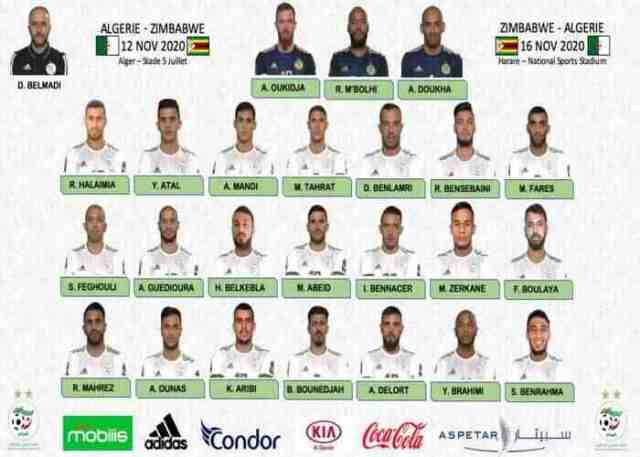 Algeria 24-man squad