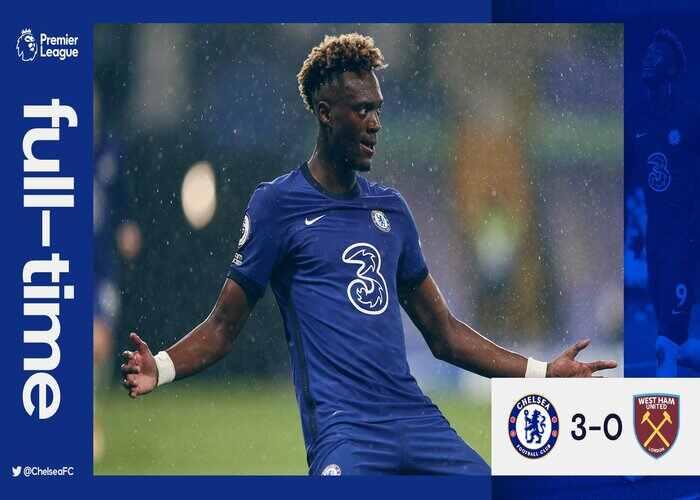 Chelsea 3-0 West Ham: Abraham brace help Chelsea to beats West Ham