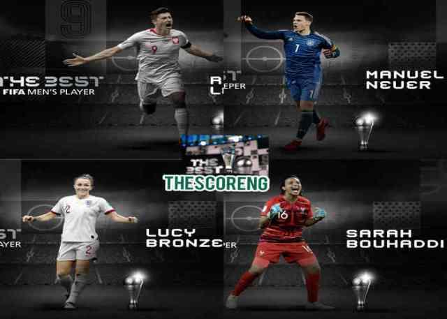 #TheBest: Full List of FIFA Awards Winners 2020