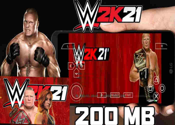WWE 2K21 Apk PPSSPP Iso File Free Download For Android