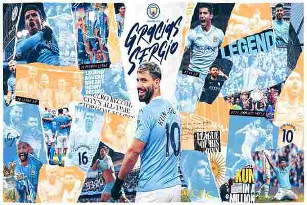 Sergio Aguero nets brace as Manchester City Lift Premier League Trophy