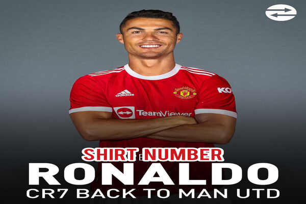 Cristiano Ronaldo shirt number in return to Manchester United is confirm