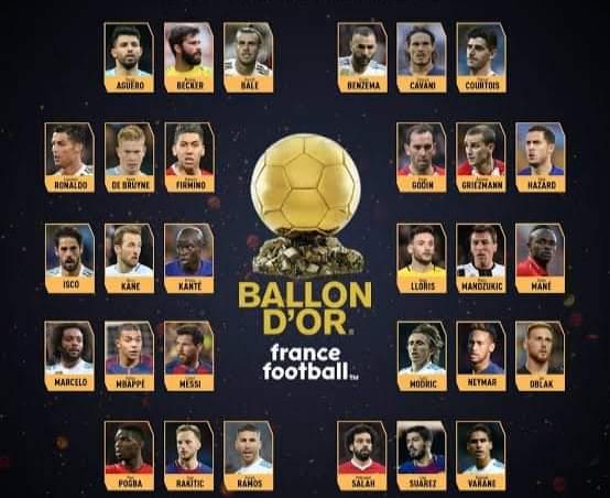 Full list of 30-man nominees for 2021 Ballon d'Or awards