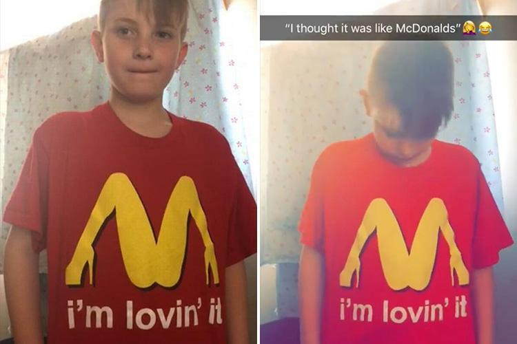 Mum 'accidentally' Sent Son To School In This VERY Rude T