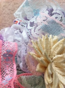 #3: Lace is invaluable for crafts and clothing DIYs. Find lace at craft supply stores or in your grandmother's attic.