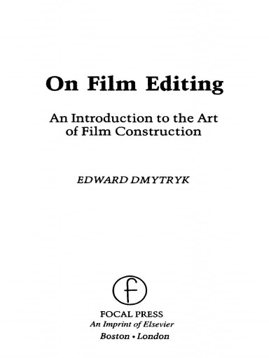 On Film Editing First Page