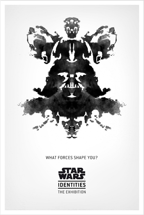 Star Wars Identities The Exhibition - Rorschach Vader Poster