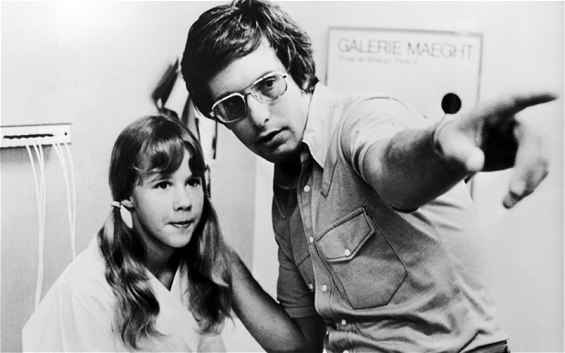 "Linda Blair and William Friedkin on the set of The Exorcist - Best ""Making Of"" Books Ever: EASY RIDERS, RAGING BULLS"