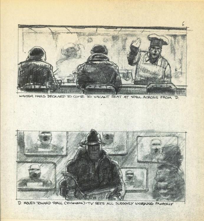 Blade Runner's storyboards