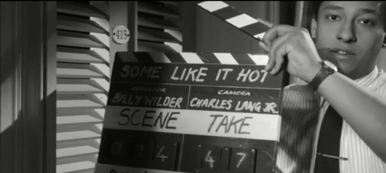 Some Like It Hot Clapper Board - The Scriptblog.com