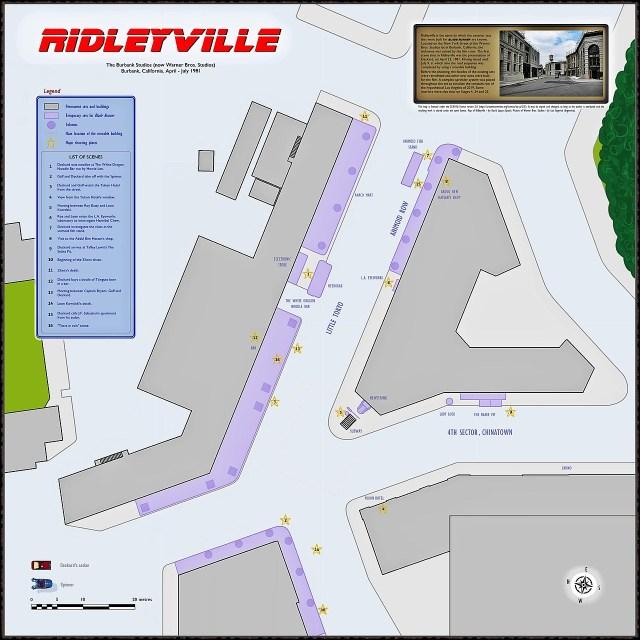 Ridleyville Map - The Making of Blade Runner - thescriptblog.com