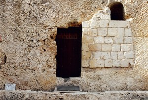 Outside Messiah's Empty Tomb in Jerusalem