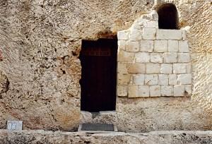 Outside Messiah's Empty Tomb in Jerusalem