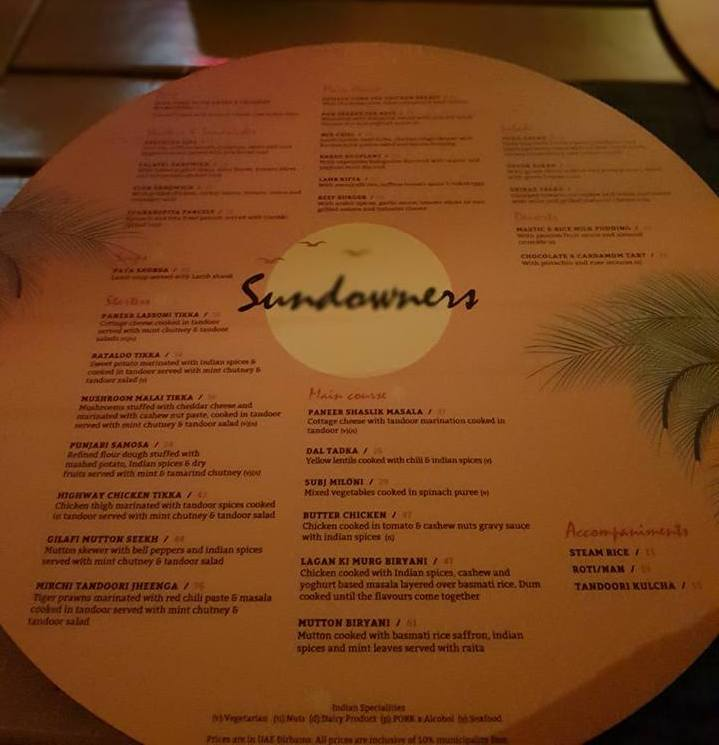 Sundowners_Menu