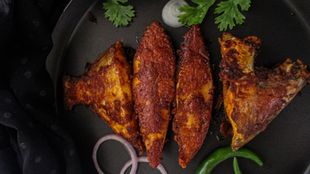 Red Masala Fried Pomfret