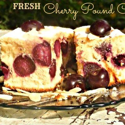 Fresh Cherry pound cake