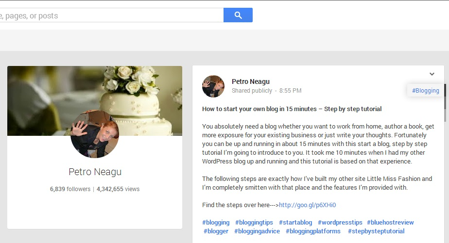 Use Google plus effectively