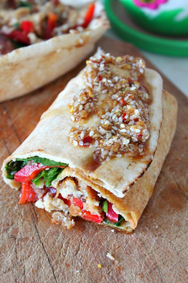Spicy veggie wrap recipe