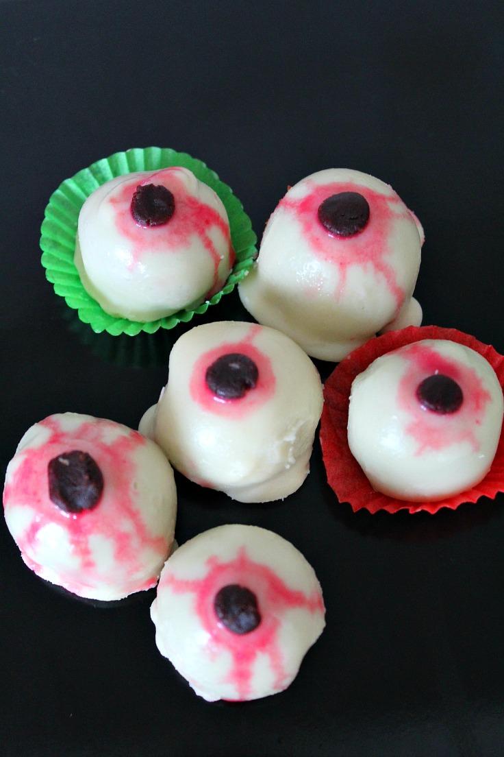Red Velvet cake eyeballs recipe