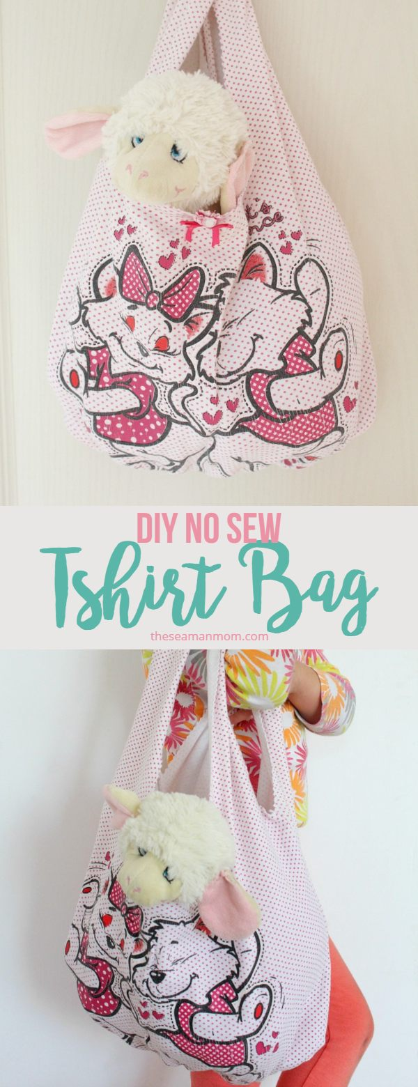 No sew tshirt bag