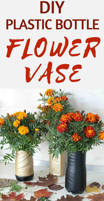 Plastic Flower Vase Diy Easy Peasy Creative Ideas