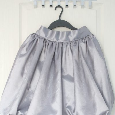 Women's bubble skirt sewing tutorial