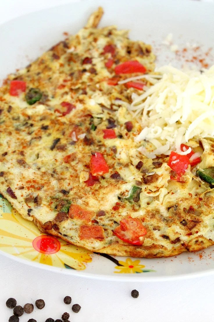 Indian spicy omelette recipe