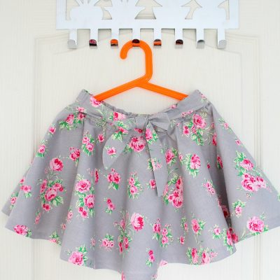 Full Circle Skirt pattern With Elastic Waist Sewing Tutorial
