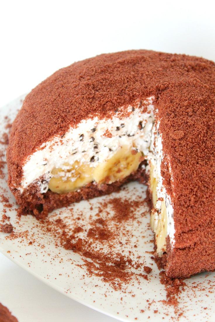 banana whipped cream cake