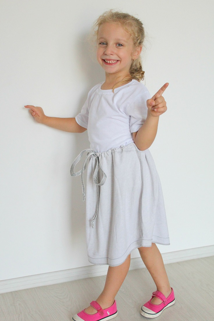 DIY No Sew Skirt